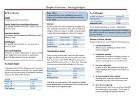 Chapter Fourteen - Setting Budgets.doc