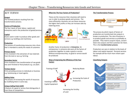 Chapter Three - Transforming Resources into Goods and Services.doc