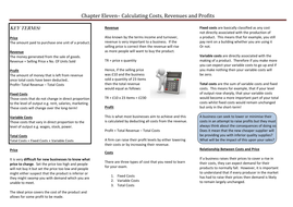Chapter Eleven - Calculating Costs, Revenues and Profits.doc