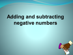 Introduction to Adding/subtracting negative number