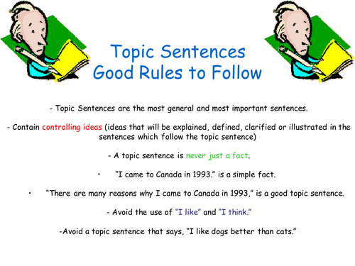 Topic Sentences by johncallaghan Teaching Resources Tes – Topic Sentences Worksheet