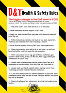 D&T Room Safety Poster