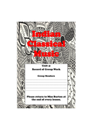 Indian Classical Music/Bhangra Activity Booklets
