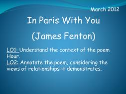 In Paris With You (James Fenton)