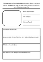 year 3 literacy hw character profile template by rfernley uk teaching resources tes. Black Bedroom Furniture Sets. Home Design Ideas