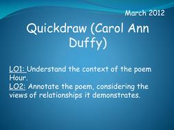 Quickdraw (Carol Ann Duffy)