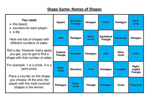 2D Shape Games by HSX - Teaching Resources - TES