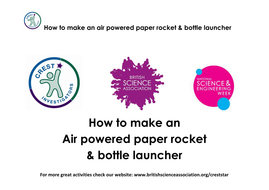 Air Rockets by CRESTstar - Teaching Resources - Tes