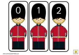Guardsmen Number and alphabet cards