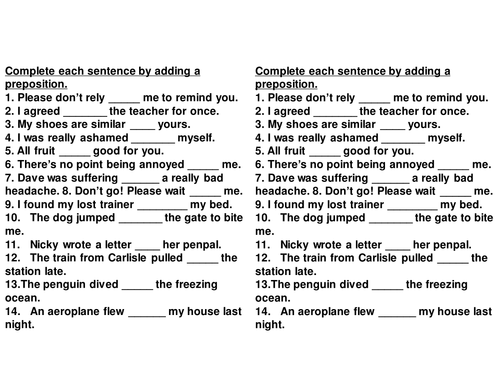 All Worksheets English Prepositions Worksheets Pdf Free – Prepositions Worksheet Pdf
