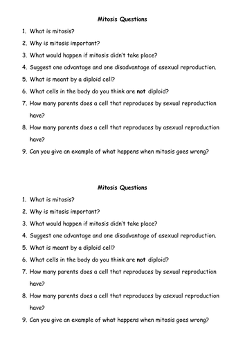 mitosis by michael teaching resources tes