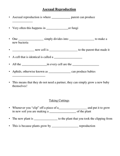 Printables Asexual Reproduction Worksheet asexual reproduction by missmolyneux teaching resources tes