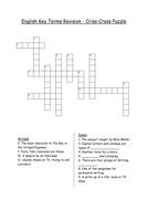 English Key Terms Criss-Cross