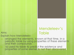 Mendeleev and the periodic table by cindyewilliams teaching lesson c21 mendeleevs tablepptx urtaz Images