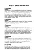 Heroes by Robert Cormier Chapter Summaries