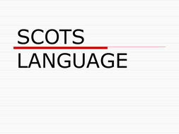 SCOTS LANGUAGE.ppt