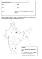 Create A Weather Map Worksheet.Create A Weather Map Report Of India By Jomax766 Teaching