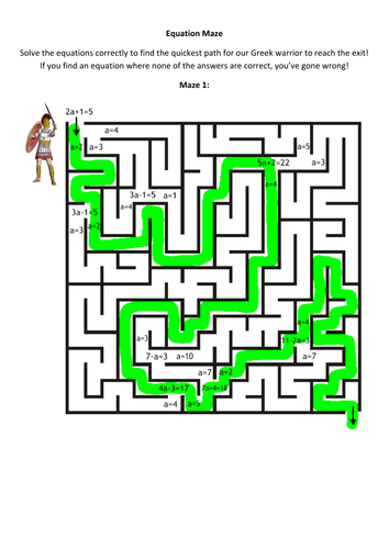 Waves Worksheet Equation Maze Worksheet And Answers By Alutwyche  Teaching  Basic Esl Worksheets Pdf with Webelos Traveler Worksheet Pdf Equation Maze Worksheet And Answers By Alutwyche  Teaching Resources  Tes Direct Speech Worksheet Pdf