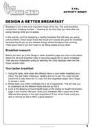 Food for Life: Design a better breakfast