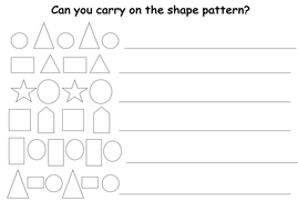 continuing shape patterns by lcdixon88 teaching resources tes