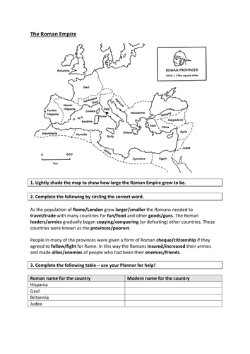 The Roman Empire by CCLowles  Teaching Resources  Tes