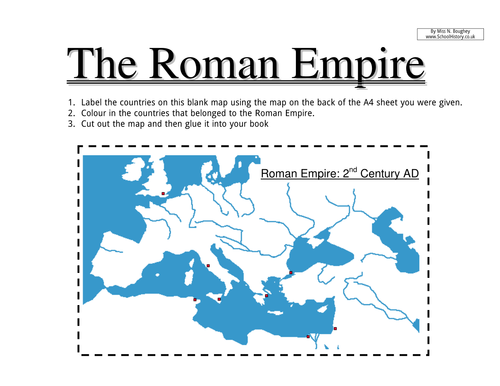 The Roman Empire by CCLowles Teaching Resources Tes – Ancient Rome Map Worksheet