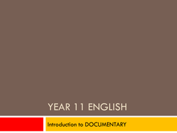Introduction to Documentary SuperSize Me
