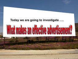 Adverts - What makes a good advert?