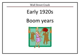 USA Wall Street Crash Poster Timeline
