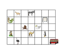Y1 and Y2 Zoo grid map for direction activities by indigo987 ... Direction Of Map on