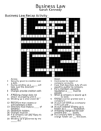 Business Law Crossword Puzzle