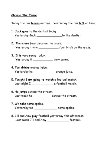 All Worksheets past and present tense worksheets ks2 : Improving Sentence Structure & Level Up Your Vocab by ...