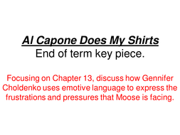 al capone does my shirts work pack by johncallaghan teaching  al capone does my shirts essay outline ppt