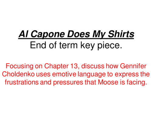 al capone does my shirts essay Custom college essay writing service al capone does my shirts essay questions thesis phd database write my review.