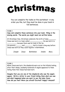 Christmas Worksheet by jasminebennett | Teaching Resources
