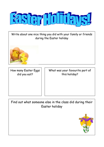 easter holiday worksheet by jasminebennett teaching resources tes. Black Bedroom Furniture Sets. Home Design Ideas