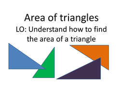 area of triangles by porovan teaching resources tes