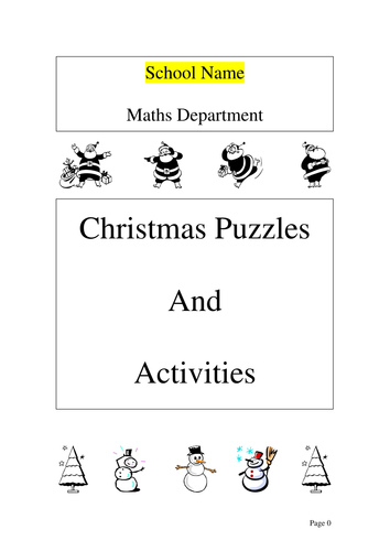 maths christmas activities booklet by ryansmailes teaching resources tes. Black Bedroom Furniture Sets. Home Design Ideas