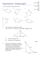 trigonometry finding angles worksheet by tristanjones teaching resources. Black Bedroom Furniture Sets. Home Design Ideas