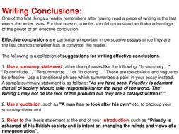 how do you write a conclusion