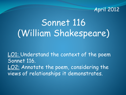 Sonnet 116 (William Shakespeare)