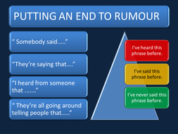 RUMOURS AND BULLYING.