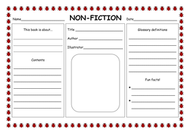 nonfiction worksheet year 1 breadandhearth. Black Bedroom Furniture Sets. Home Design Ideas