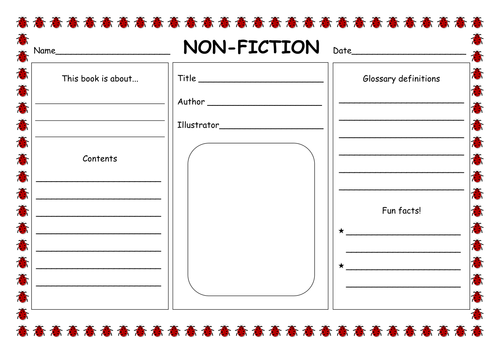 {Fiction NonFiction PowerPoint by hannahelizabethg Teaching – Nonfiction Worksheets