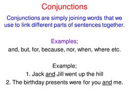 KS3 Grammar: Conjunctions