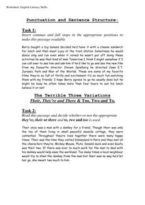 ks3 punctuation sentences by johncallaghan uk teaching resources tes. Black Bedroom Furniture Sets. Home Design Ideas