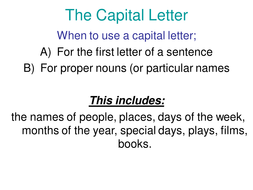grammar capital letters