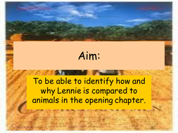 lesson 4  - animal and lennie.ppt