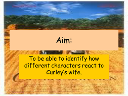 lesson 9 - opinions on Curleys wife.ppt