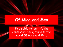Of Mice and Men sow powerpoints